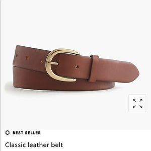 J. Crew classic leather belt in brown - size s